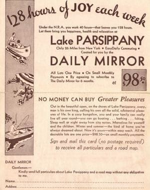 Lake Parsippany Property Owners Association - History